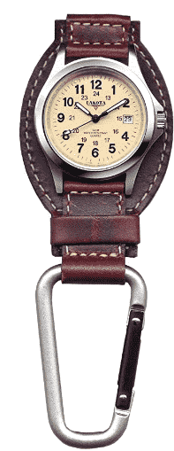 Dakota is known for making carabiner watches of this kind and they have not disappointed. We like the style and design, marrying a beautiful leather design with a stainless steel watch case for a complete feel. A handy calendar complication is the only thing on the watch face so that it doesn't get too busy. Adding a seconds-hand gives more comfort to nurses that will use this watch. For a watch like this, there is not much else to say. Once you have one of it in your hands, you will know that the purchase has been worth it.