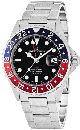 Revue Thommen Professional Men's GMT Watch
