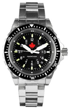 Marathon Swiss Made Military Jumbo Diver's Watch (Black)
