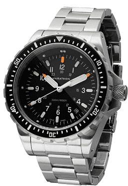 Marathon Swiss Made Military Jumbo Diver's Watch (Stainless Steel)