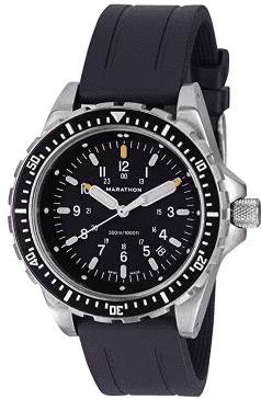 Marathon Swiss Made Military Jumbo Diver's Watch (Rubber Strap)