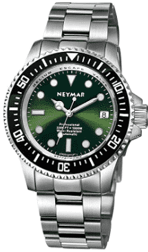 NEYMAR Men's Swiss Automatic Diver Watch (Green)