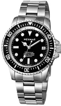 NEYMAR Men's Swiss Automatic Diver Watch (Black)