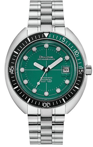 Bulova Oceanographer Automatic Diver/ Dress Watch (Green)