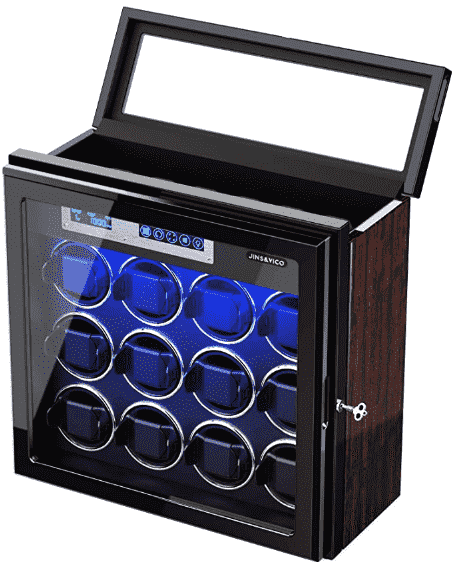 LUKDOF 12-Watch Winder – Best for Multiple Watches