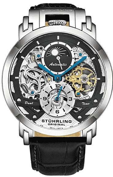 Stuhrling Men's Automatic Skeleton Watch