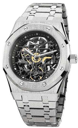 FEICE Men's Automatic Sports Watch – Best Skeleton Dress Watch for Men
